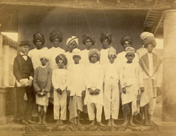 Group of students from the Practising Government Normal School, Madras